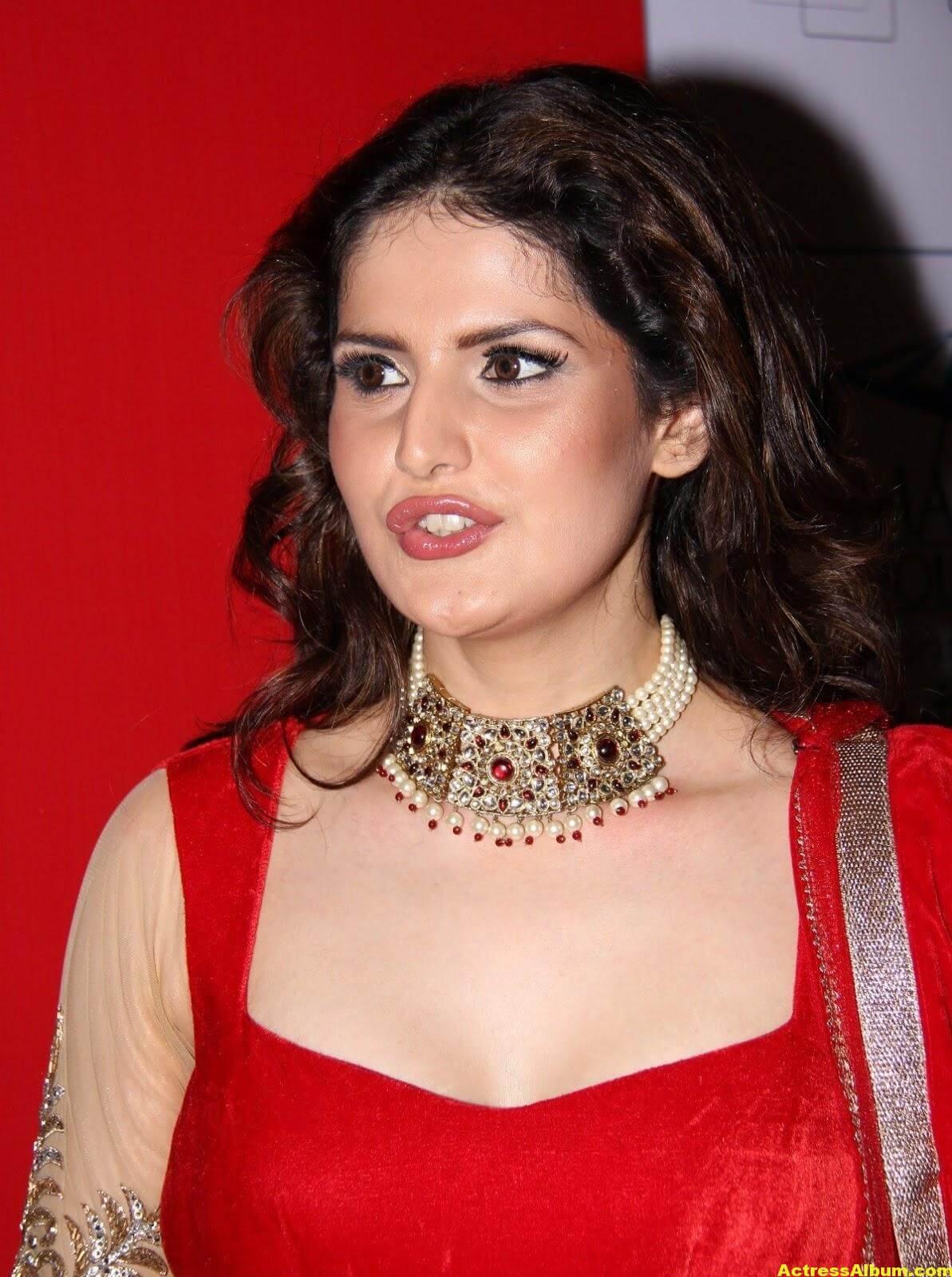 Zarine Khan Hot Photoshoot In Red Dress