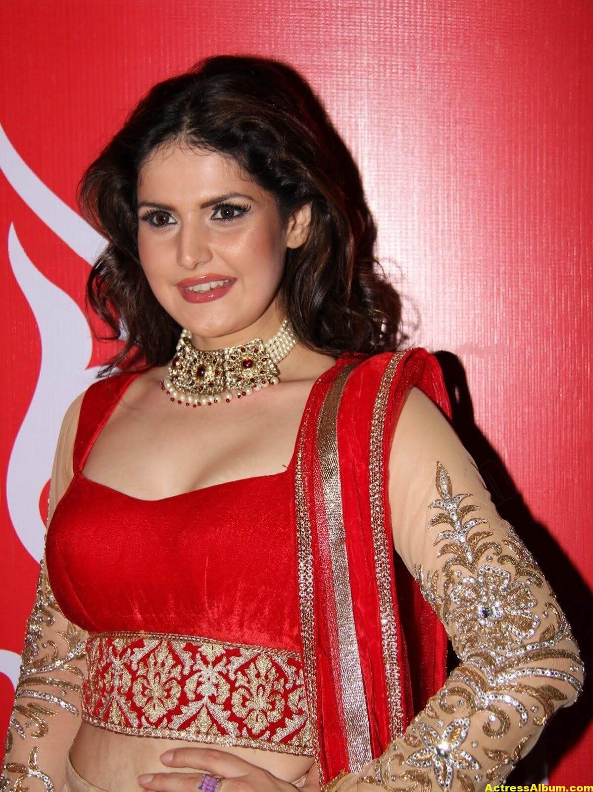Zarine Khan Hot Photoshoot In Red Dress 2