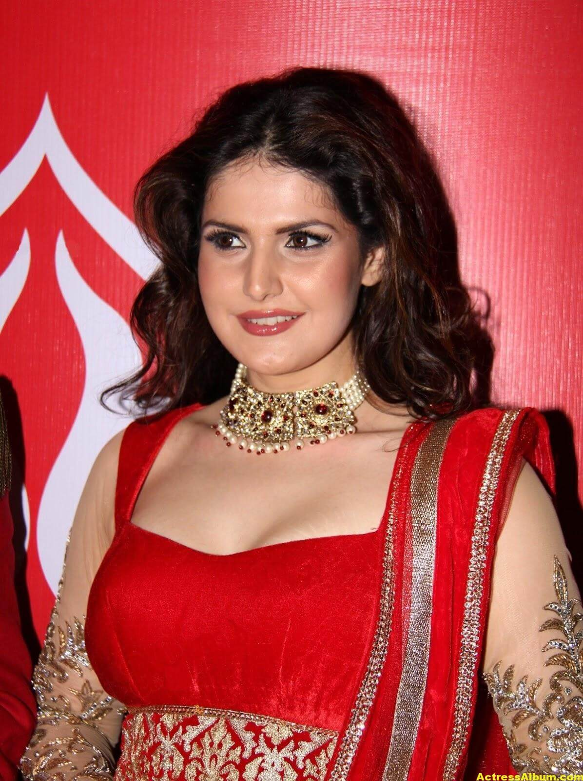 Zarine Khan Hot Photoshoot In Red Dress 3