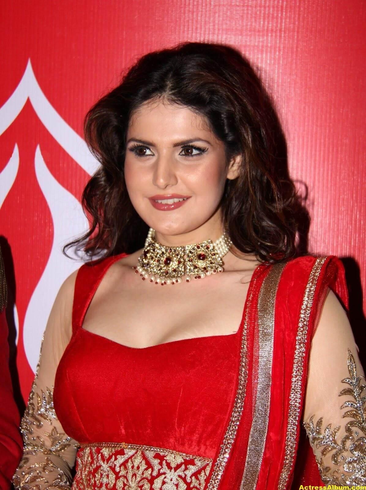 Zarine Khan In Red Dress
