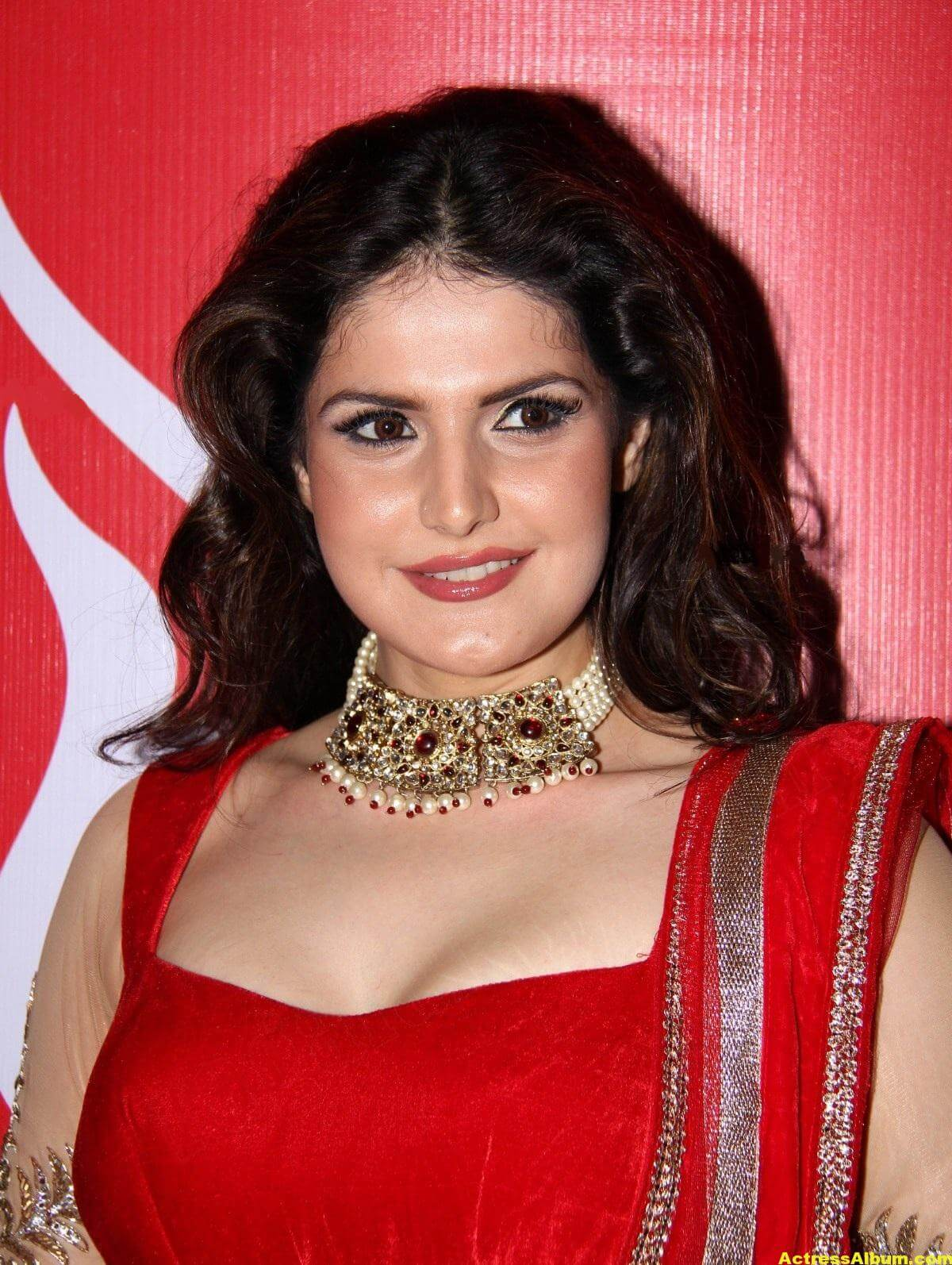 Zarine Khan Hot Photoshoot In Red Dress 4