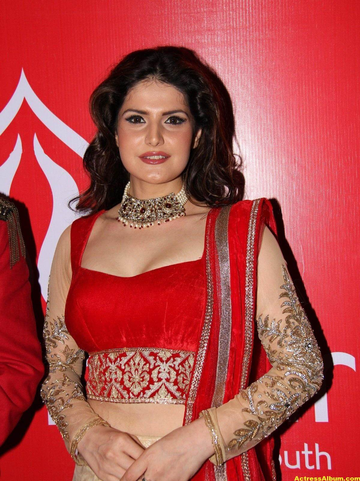 Zarine Khan Hot Photoshoot In Red Dress 5