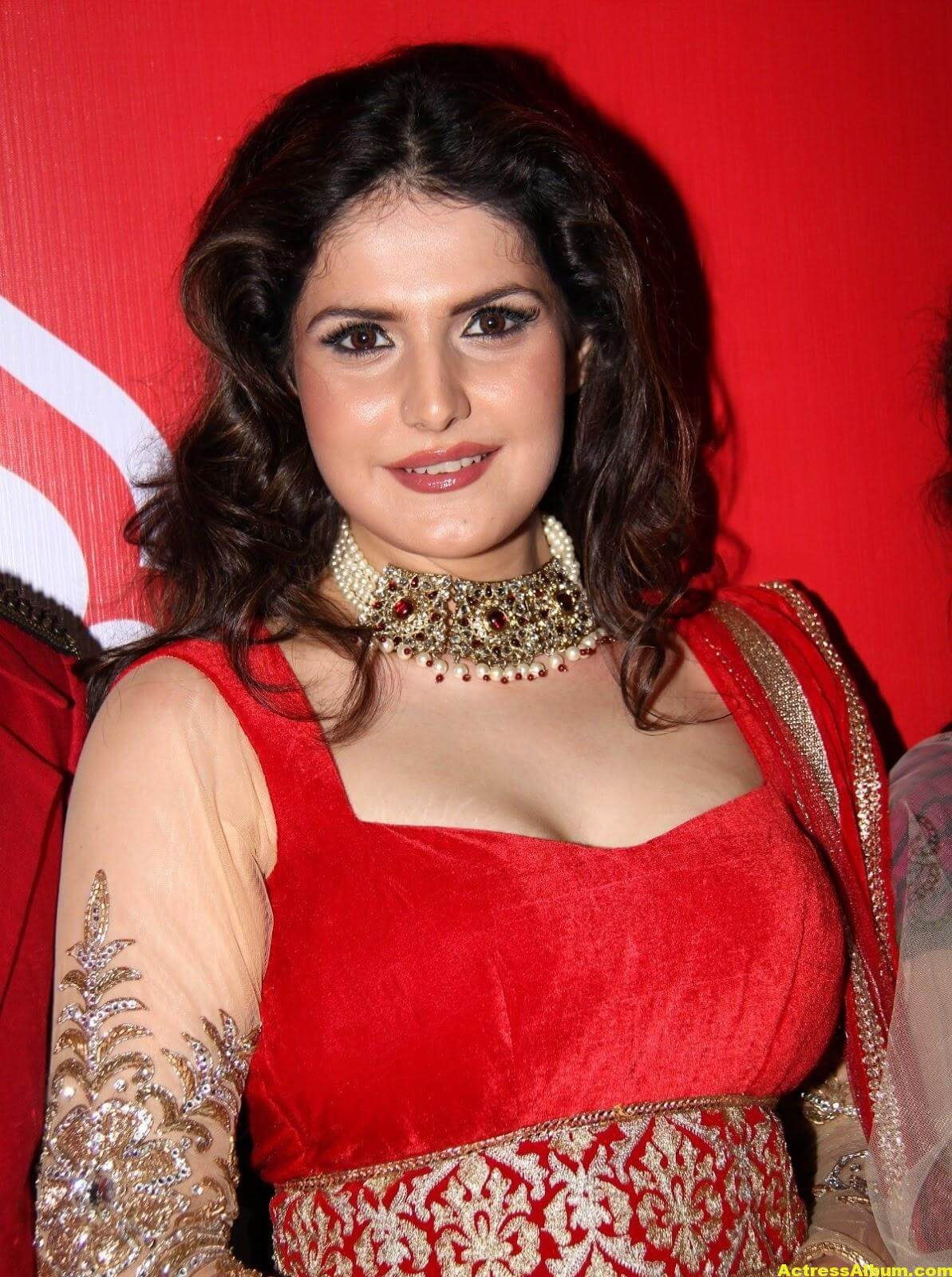 Zarine Khan Hot Photoshoot In Red Dress 6