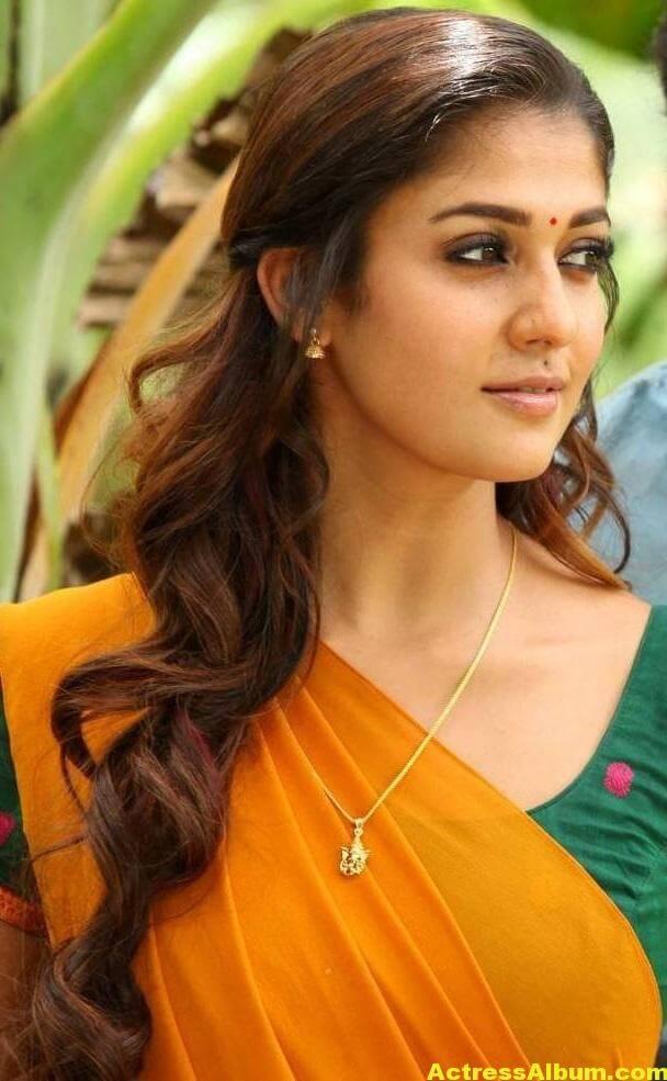 Actress Nayantara Hot Photos In Yellow Saree 0