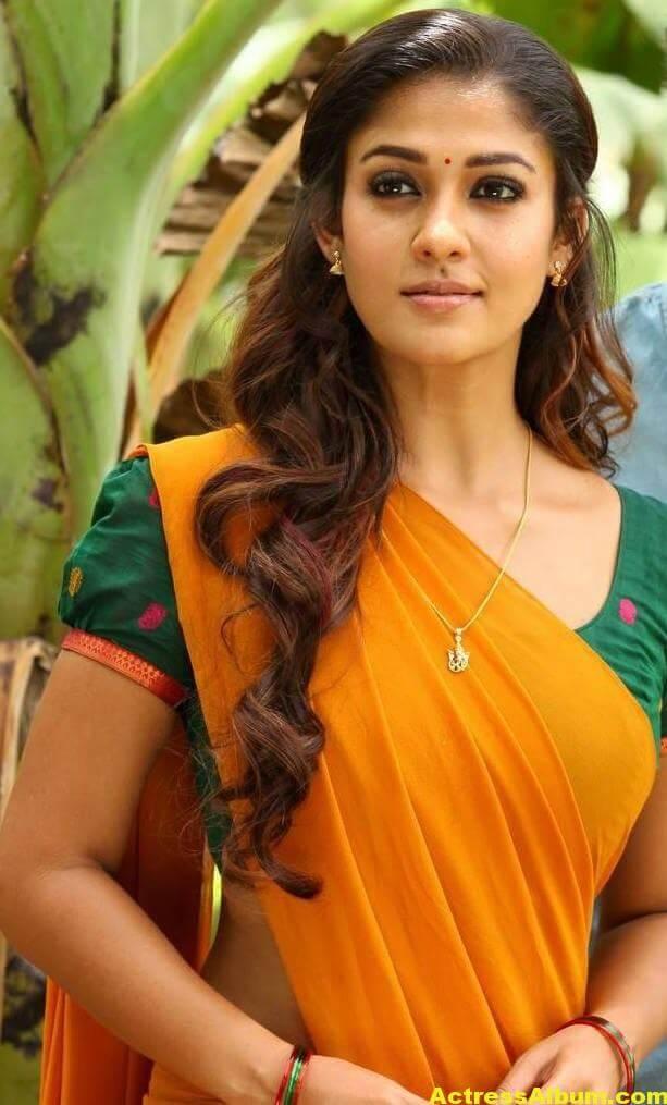 Actress Nayantara Hot Photos In Yellow Saree 1