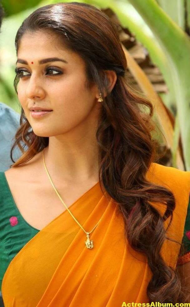 Actress Nayantara Hot Photos In Yellow Saree 3