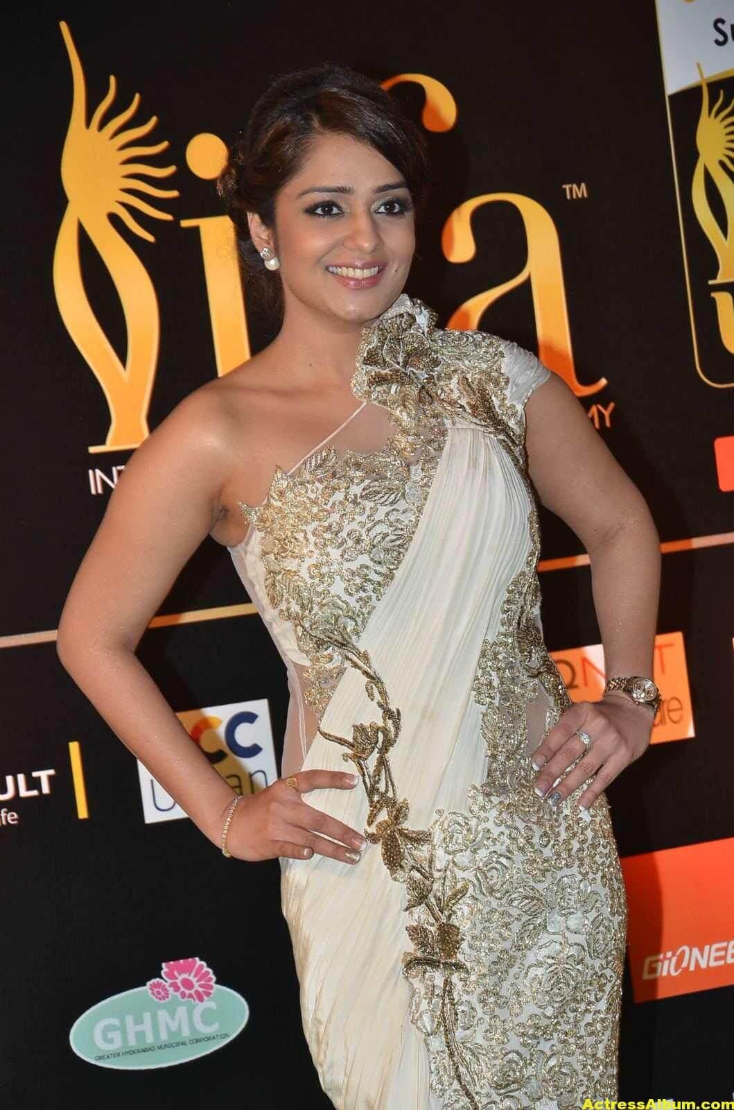Actress Nikita Thukral Hot Stills At IIFA Utsavam In White Saree 6
