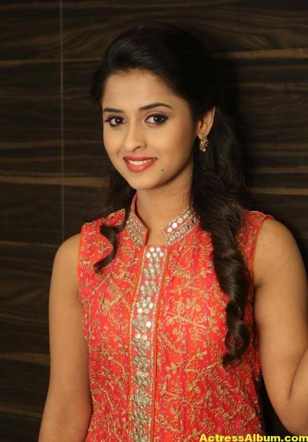 Arthana Latest Cute Stills In Red Dress 1