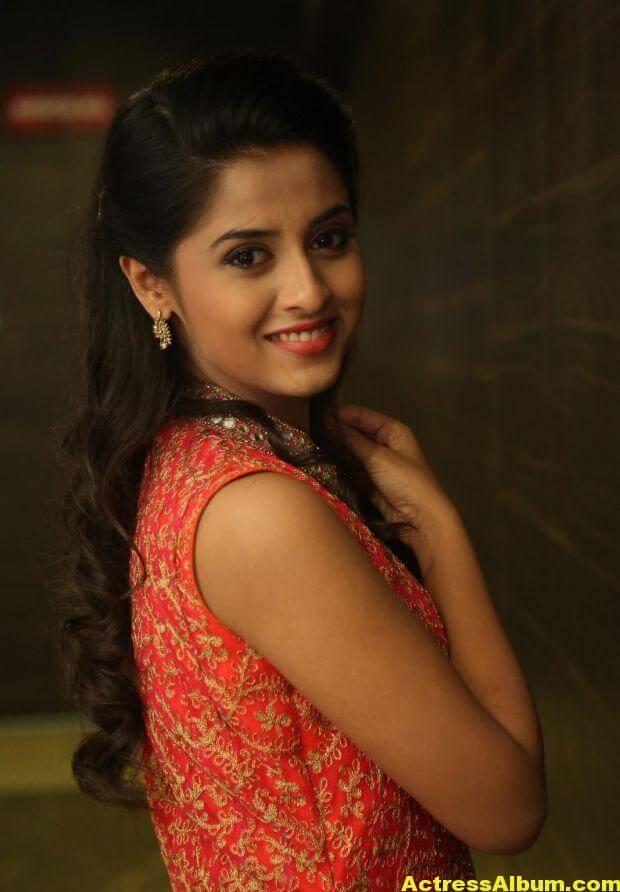 Arthana Latest Cute Stills In Red Dress 2