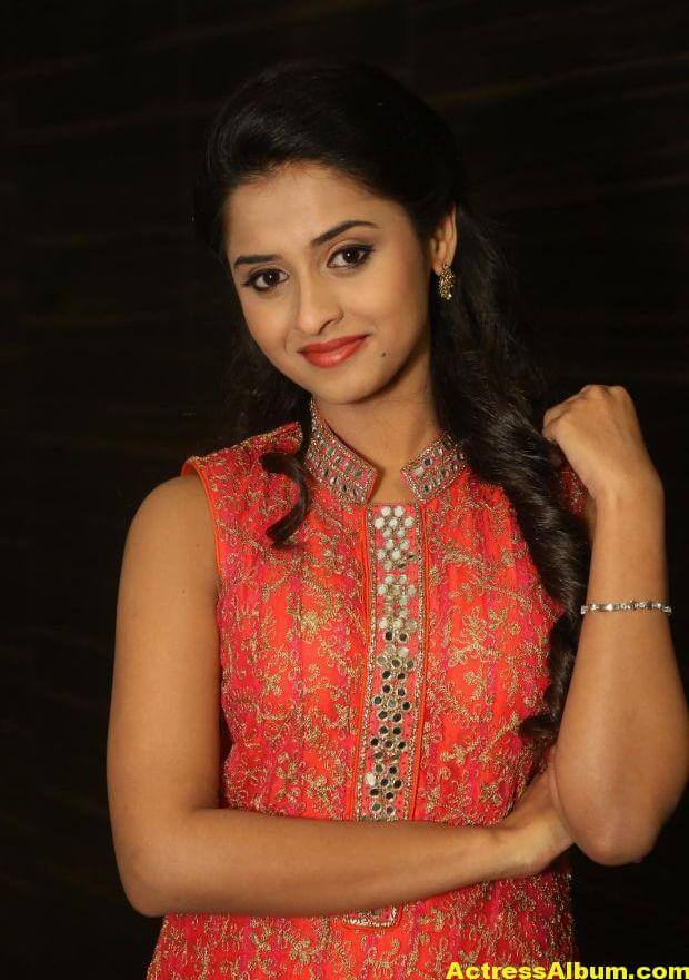 Arthana Latest Cute Stills In Red Dress 4