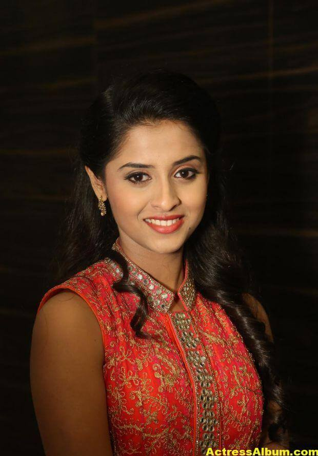 Arthana Latest Cute Stills In Red Dress 5