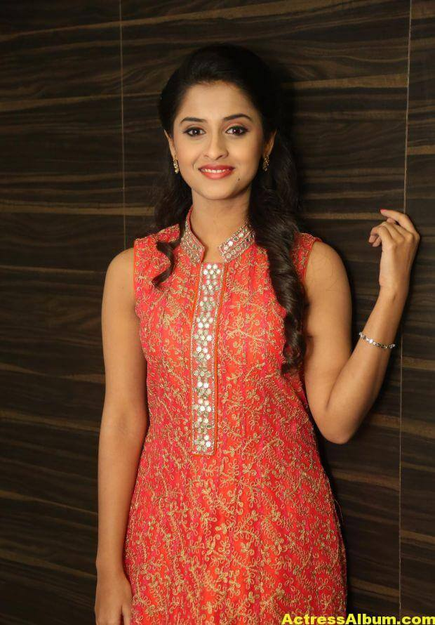 Arthana Latest Cute Stills In Red Dress 6