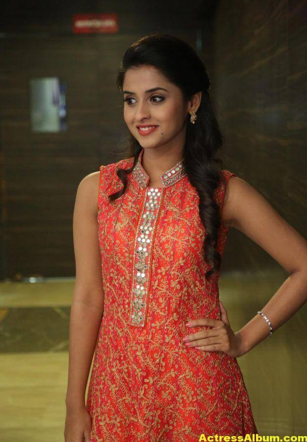 Arthana Latest Cute Stills In Red Dress 7