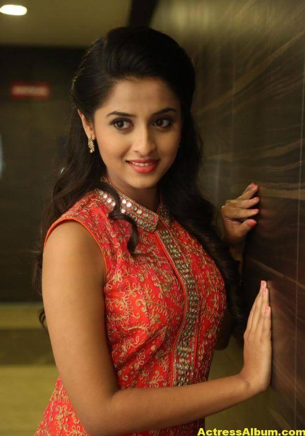Arthana Latest Cute Stills In Red Dress 8
