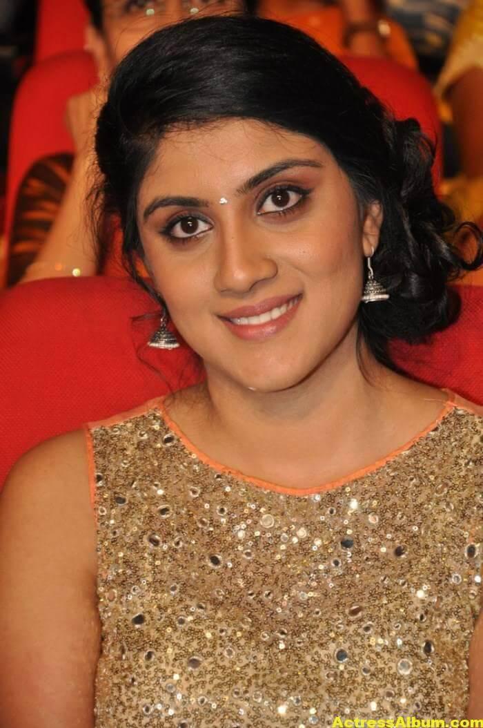Dhanya Balakrishna Stills In Orange Dress 1