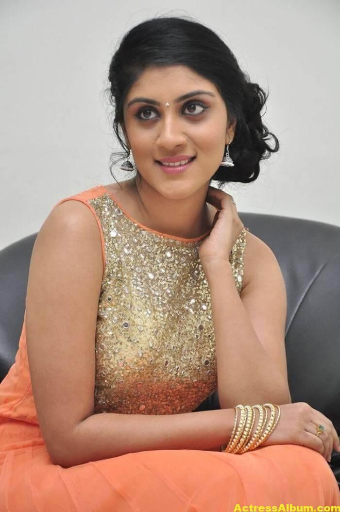 Dhanya Balakrishna Stills In Orange Dress 2