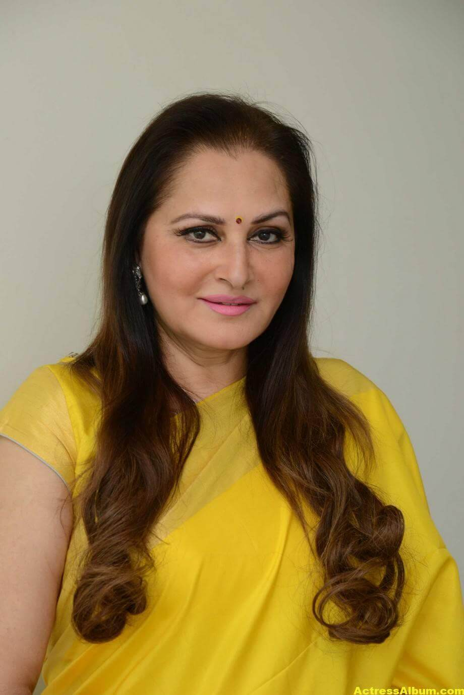 Jaya Prada Latest Cute Photos In Colorful Yellow Saree 1