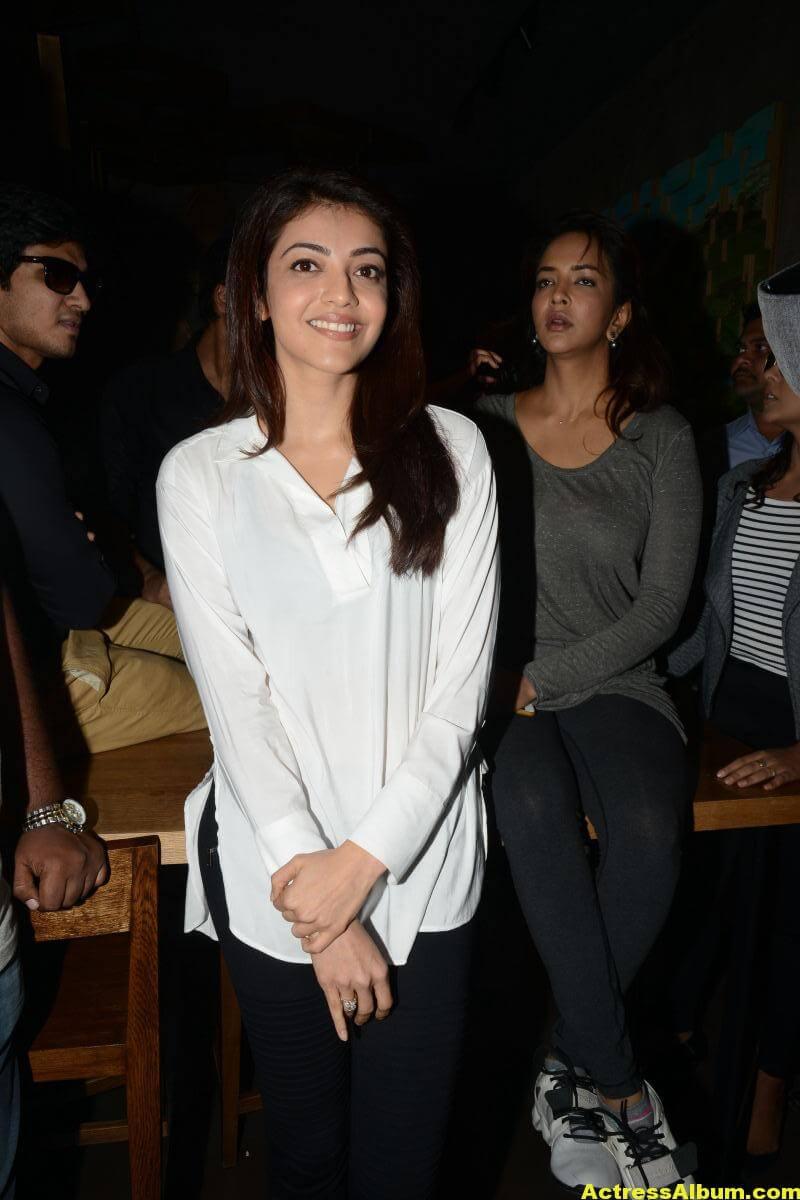 Kajal Agarwal In White Shirt