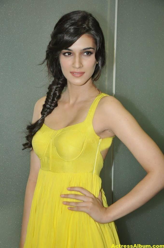 Kriti Sanon Hot Lags Show Photoshoot Stills In Yellow Top 4