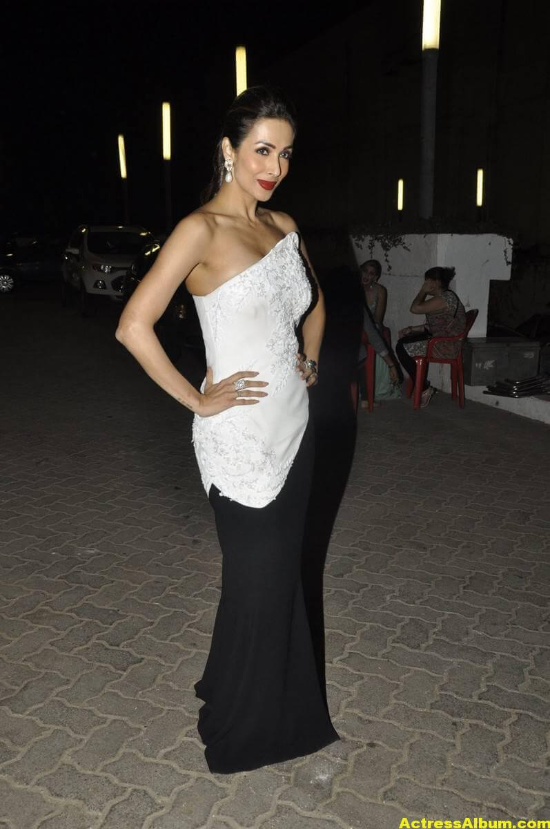 Malaika Arora Khan Hot Photoshoot Stills In White Gown 2