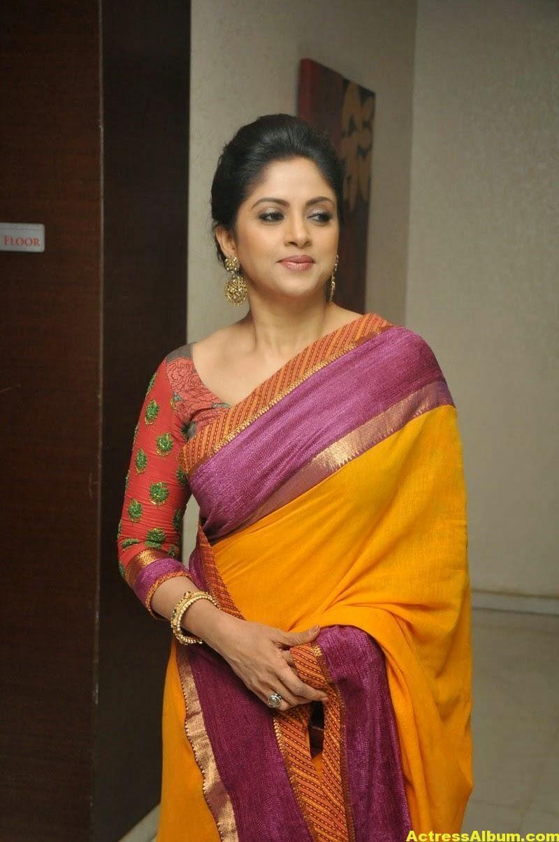 Nadhiya Latest Spicy Stills In Colorful Yellow Saree 3