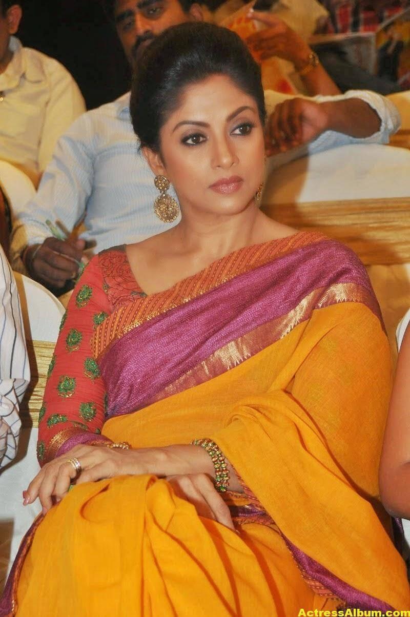 Nadhiya Latest Spicy Stills In Colorful Yellow Saree 4