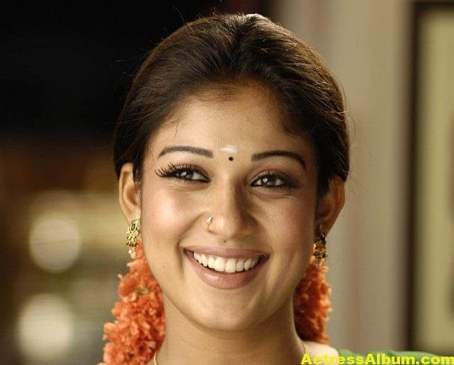 Nayantara Gorgeous Face Close Up Stills In Green Saree 3