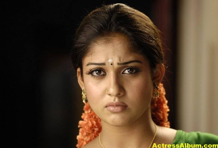 Nayantara Gorgeous Face Close Up Stills In Green Saree 7