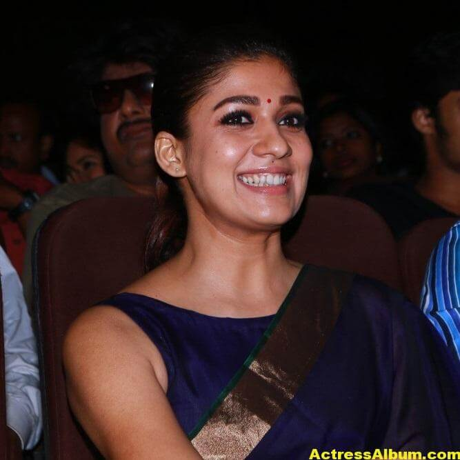 Nayantara Latest Stills In Very Hot Blue Saree 8