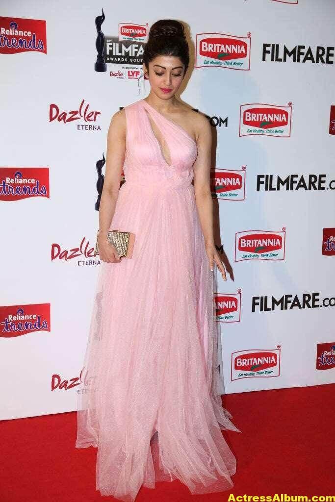 Pranitha Hot Stills At Filmfare Awards In Pink Gown 2