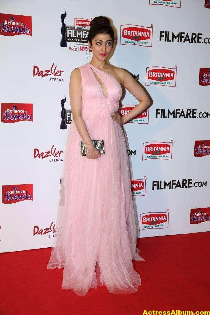 Pranitha Hot Stills At Filmfare Awards In Pink Gown 4
