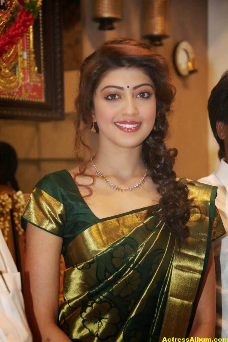 Pranitha Subhash Photos In Green Pattu Saree 1