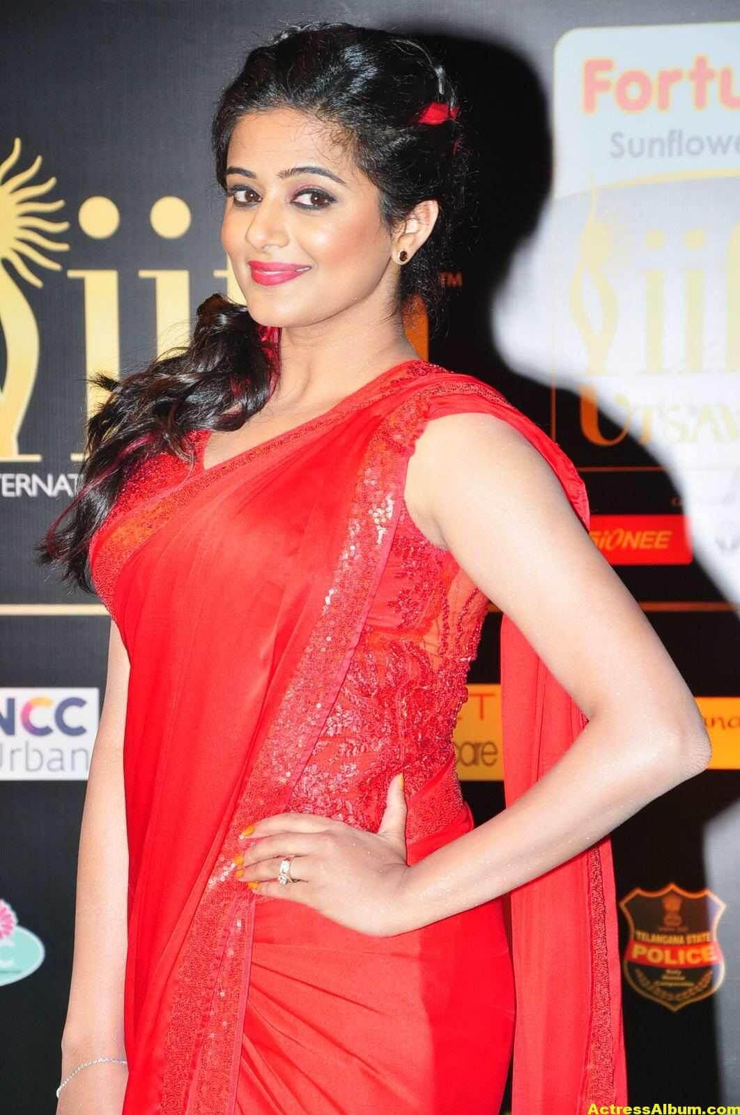 Priyamani Latest Photos At IIFA Utsavam Awards In Red Saree 1