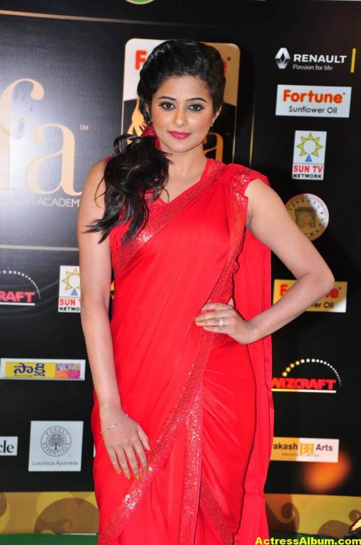 Priyamani Latest Photos At IIFA Utsavam Awards In Red Saree 2