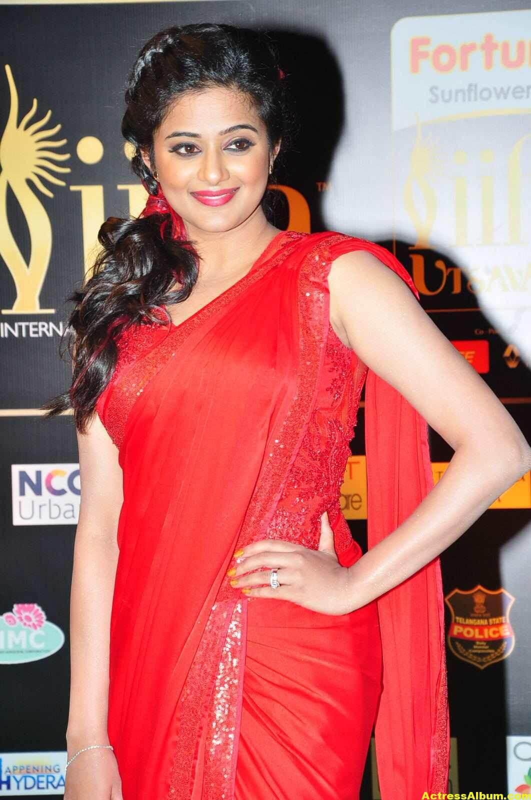 Priyamani Latest Photos At IIFA Utsavam Awards In Red Saree 3
