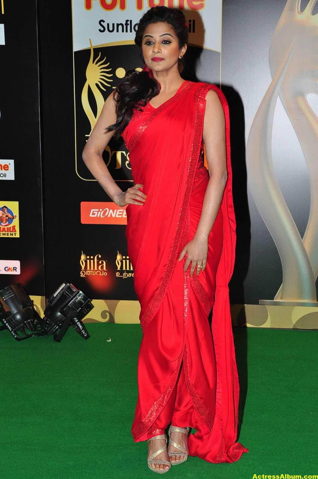 Priyamani Latest Photos At IIFA Utsavam Awards In Red Saree 4