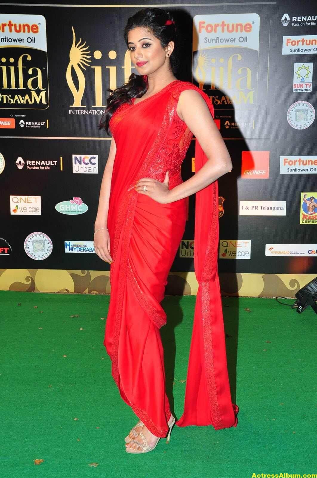 Priyamani Latest Photos At IIFA Utsavam Awards In Red Saree 5