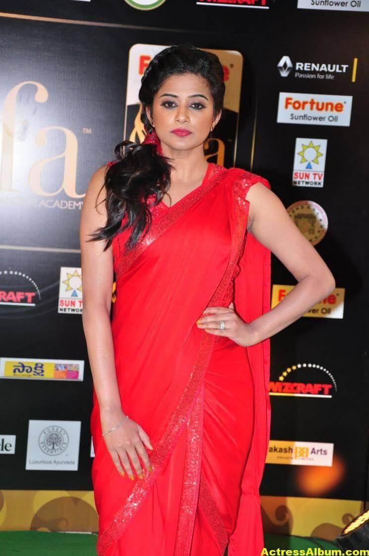 Priyamani Latest Photos At IIFA Utsavam Awards In Red Saree 6