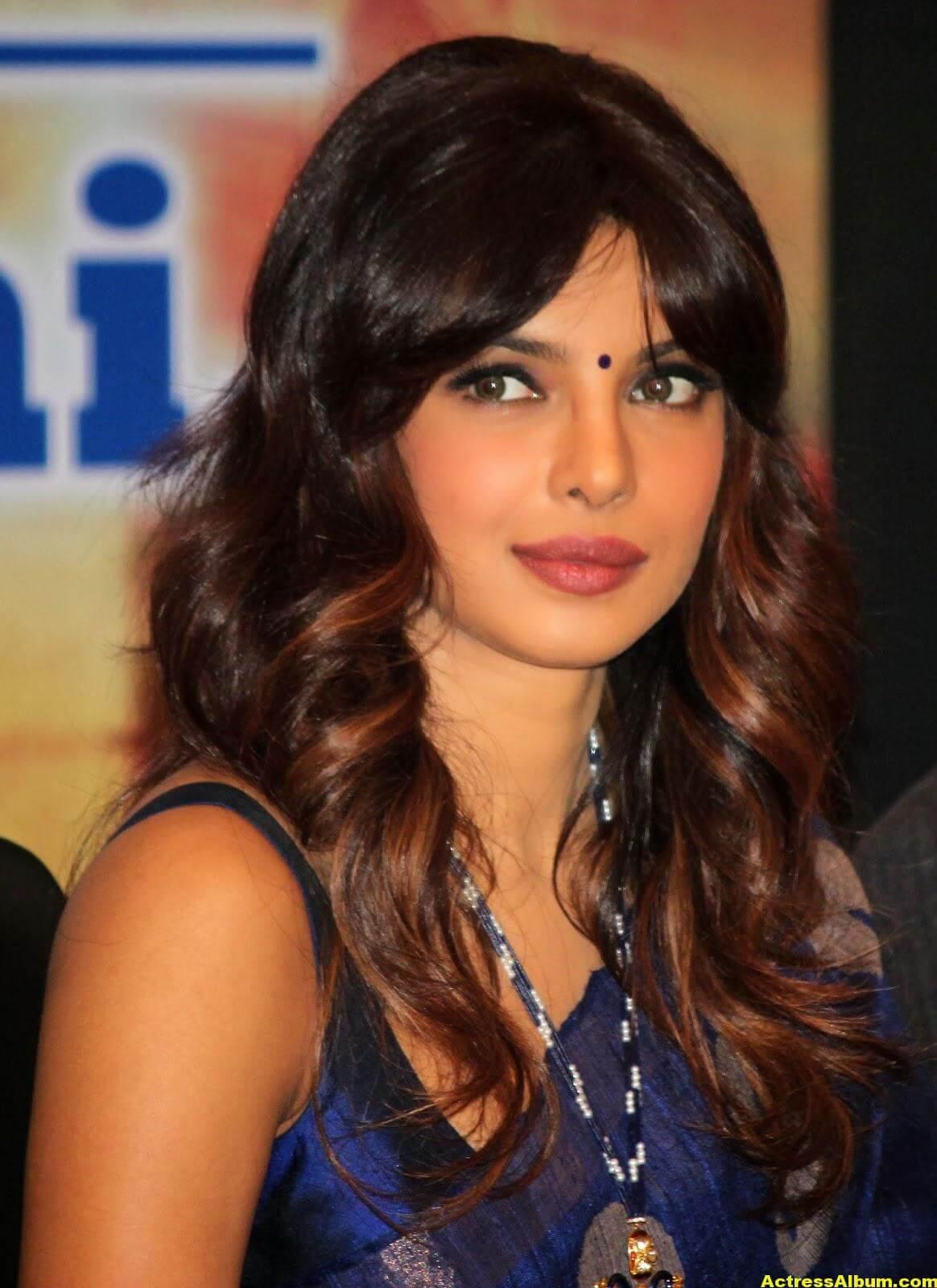 Priyanka Chopra Latest Photos In Blue Saree 2