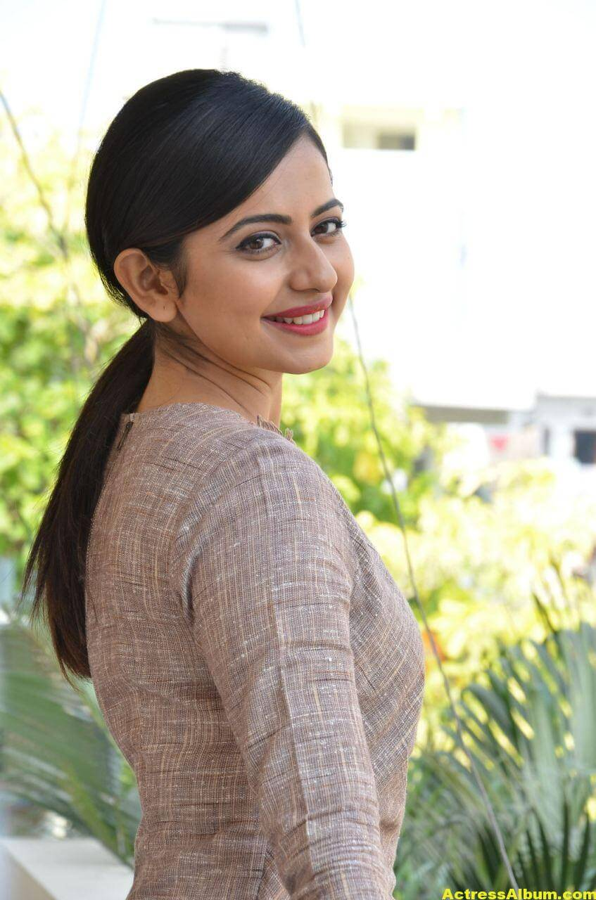 Rakul Preet Photoshoot From Nannaku Prematho Interview 1