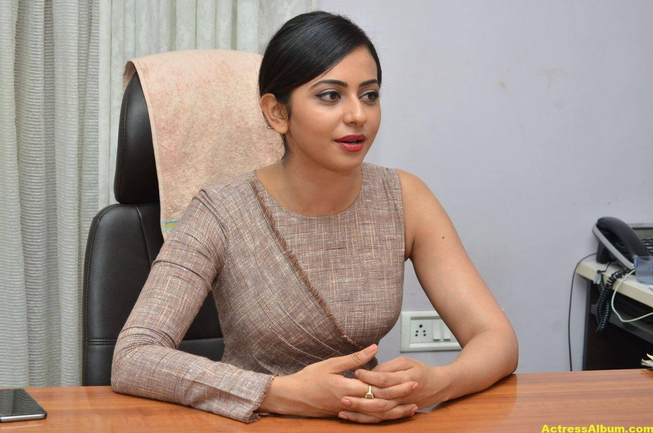 Rakul Preet Photoshoot From Nannaku Prematho Interview 4