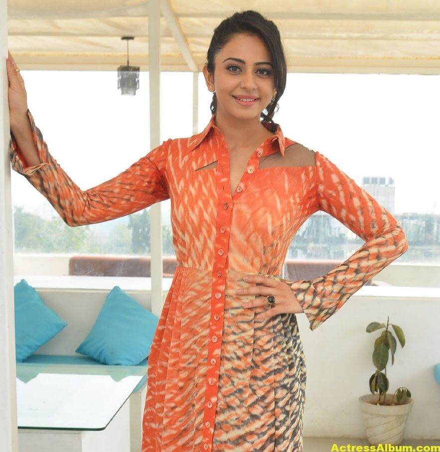 Rakul Preet Singh Latest Photos In Orange Dress 1