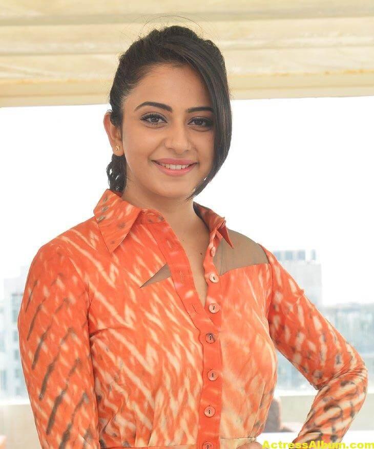 Rakul Preet Singh Latest Photos In Orange Dress 2