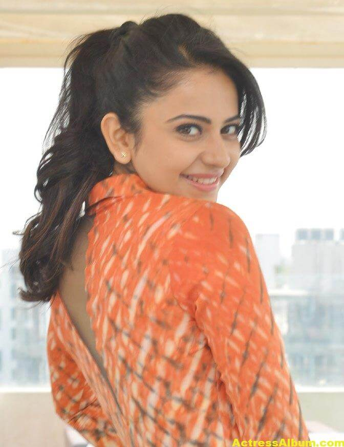 Rakul Preet Singh Latest Photos In Orange Dress 3