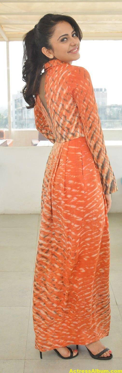 Rakul Preet Singh Latest Photos In Orange Dress 5