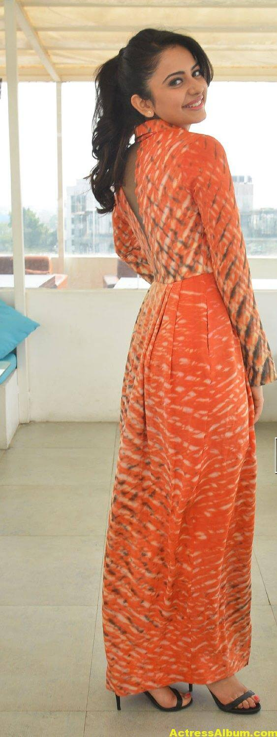 Rakul Preet Singh Latest Photos In Orange Dress 6