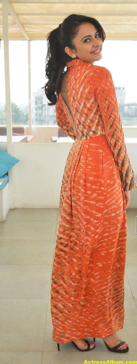 Rakul Preet Singh Latest Photos In Orange Dress 6