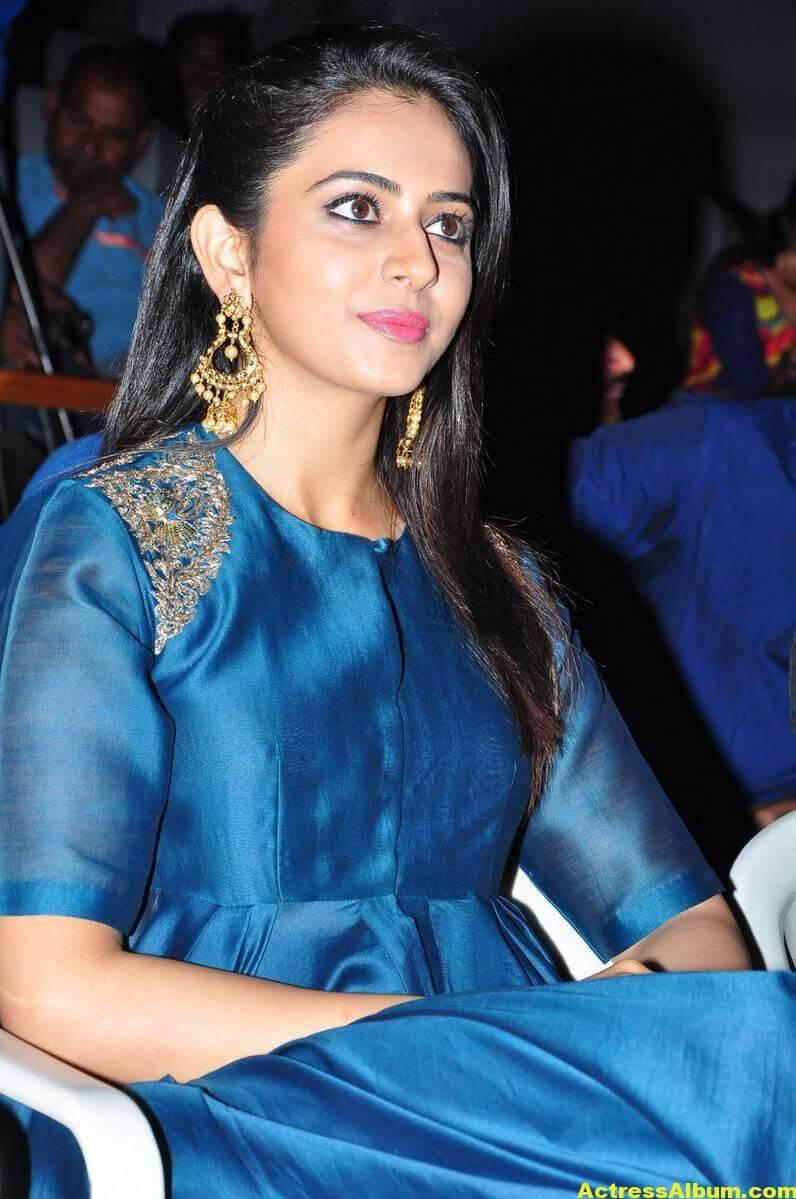 Rakul Preet Singh Looks Spicy In Colorful Blue Dress 1
