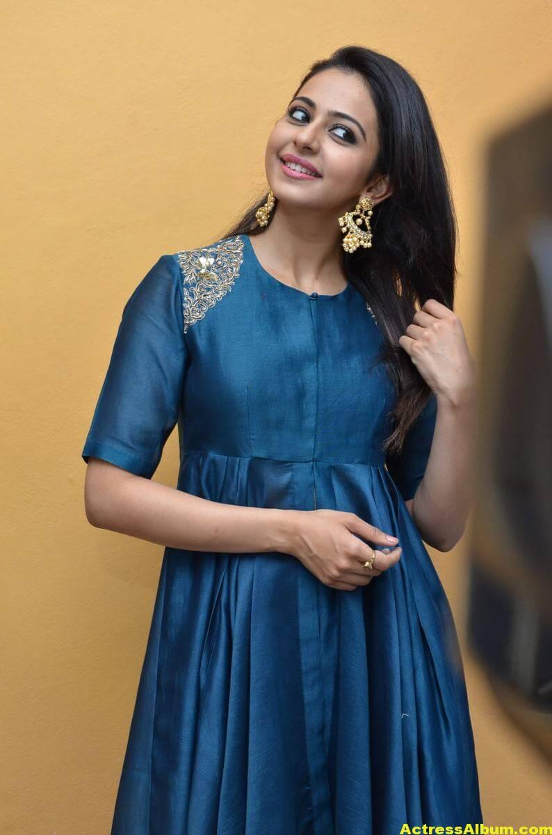 Rakul Preet Singh Looks Spicy In Colorful Blue Dress 3