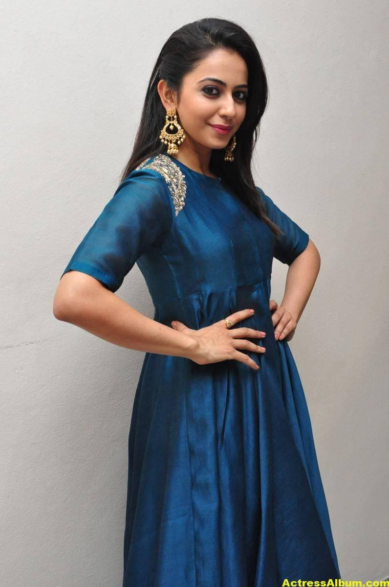 Rakul Preet Singh Looks Spicy In Colorful Blue Dress 4